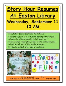 Story Hour @ Easton Library