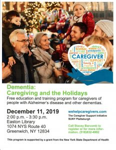 Dementia: Caregiving & the Holidays @ Easton Library