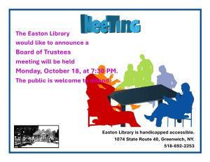 Easton Library Board of Trustees Meeting @ Easton Library
